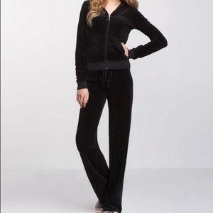 Black Juicy Velour Jumpsuit